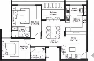 1212 sqft, 2 bhk Apartment in BBCL Vajra Mogappair, Chennai at Rs. 80.0000 Lacs