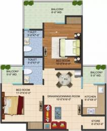 995 sqft, 2 bhk Apartment in Galaxy Vega Techzone 4, Greater Noida at Rs. 8500