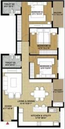 1620 sqft, 3 bhk Apartment in Brigade Pinnacle Derebail, Mangalore at Rs. 75.0000 Lacs