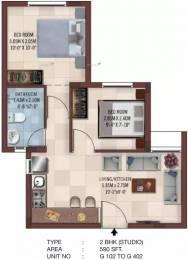 590 sqft, 2 bhk Apartment in Casagrand Ferns West Tambaram, Chennai at Rs. 25.0000 Lacs