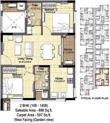 898 sqft, 2 bhk Apartment in DRA Pristine Pavilion Phase 3 Singaperumal Koil, Chennai at Rs. 45.9600 Lacs