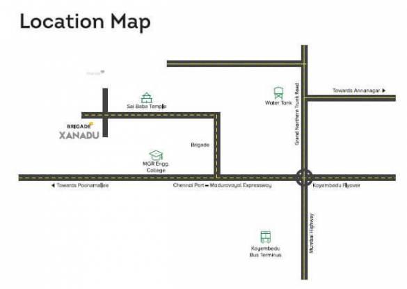 1390 sqft, 3 bhk Apartment in Builder Brigada xanadu Mogappair, Chennai at Rs. 93.0000 Lacs