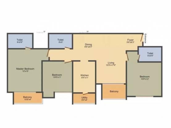 1786 sqft, 3 bhk Apartment in Ozone Greens Medavakkam, Chennai at Rs. 82.0000 Lacs