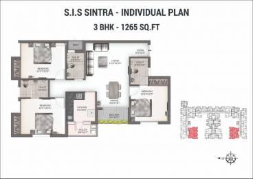 1265 sqft, 3 bhk Apartment in South India Sintra Kolapakkam, Chennai at Rs. 50.6000 Lacs