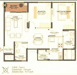 1017 sqft, 2 bhk Apartment in Godrej Azure Padur, Chennai at Rs. 51.0000 Lacs