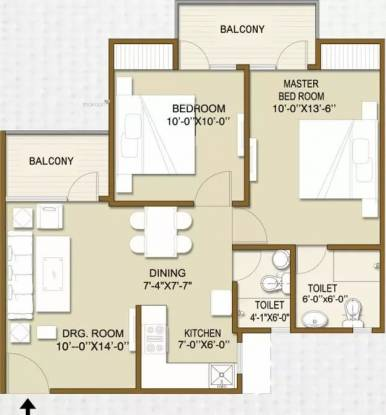 900 sqft, 2 bhk Apartment in Panchsheel Hynish Sector 1 Noida Extension, Greater Noida at Rs. 32.0000 Lacs