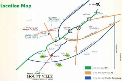 1490 sqft, 3 bhk Apartment in Mapsko Mount Ville Sector 79, Gurgaon at Rs. 69.0000 Lacs