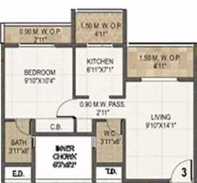 730 sqft, 1 bhk Apartment in Nisarg Greens Ambernath East, Mumbai at Rs. 8000