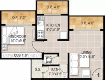 720 sqft, 1 bhk Apartment in Aadinath Royal Flora Bhiwandi, Mumbai at Rs. 35.0000 Lacs