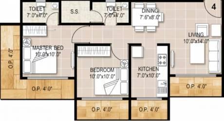 1106 sqft, 2 bhk Apartment in Aadinath Royal Flora Bhiwandi, Mumbai at Rs. 45.0000 Lacs