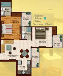 870 sqft, 2 bhk Apartment in Skytech Colours Avenue Sector 10 Noida Extension, Greater Noida at Rs. 25.0000 Lacs