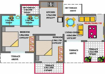928 sqft, 2 bhk Apartment in Sai Exotique Chikhali, Pune at Rs. 8000