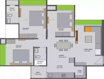 1008 sqft, 3 bhk Apartment in Siddhi Aarohi Elysium Bopal, Ahmedabad at Rs. 45.2025 Lacs