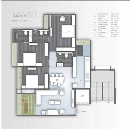1876 sqft, 3 bhk Apartment in Goyal Orchid Harmony Shela, Ahmedabad at Rs. 85.0000 Lacs