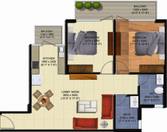 900 sqft, 2 bhk Apartment in Sunrays 63 Golf Drive Sector 63, Gurgaon at Rs. 24.5000 Lacs