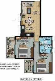 734 sqft, 2 bhk Apartment in OSB Golf Heights Sector 69, Gurgaon at Rs. 23.0950 Lacs