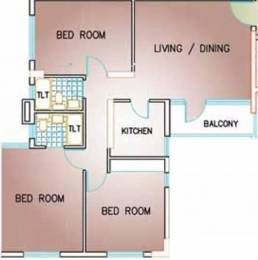 1220 sqft, 3 bhk Apartment in South Garden Behala, Kolkata at Rs. 30000