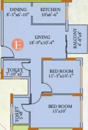 1105 sqft, 2 bhk Apartment in Ideal Ideal Regency Joka, Kolkata at Rs. 16000