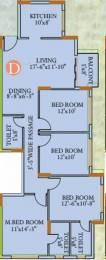 1845 sqft, 4 bhk Apartment in Ideal Ideal Regency Joka, Kolkata at Rs. 20000