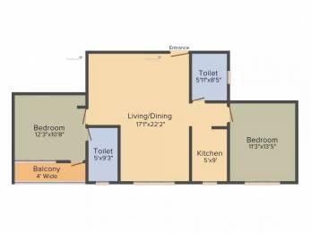 1250 sqft, 2 bhk Apartment in Natural View Ultadanga, Kolkata at Rs. 20000