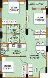 1062 sqft, 3 bhk Apartment in Srijan Greenfield City Elite Behala, Kolkata at Rs. 10000