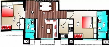 924 sqft, 2 bhk Apartment in Adya Adya Highrise Tollygunge, Kolkata at Rs. 18000