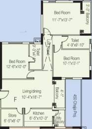 1470 sqft, 3 bhk Apartment in Diamond City North Dum Dum Park, Kolkata at Rs. 25000