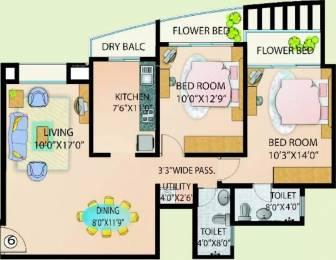 1203 sqft, 2 bhk Apartment in DSK Madhuban Andheri East, Mumbai at Rs. 58000