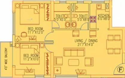 1133 sqft, 2 bhk Apartment in Ruchi Active Acres Tangra, Kolkata at Rs. 25000