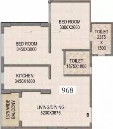 968 sqft, 2 bhk Apartment in Mounthill The Rain Forest New Town, Kolkata at Rs. 38.0000 Lacs