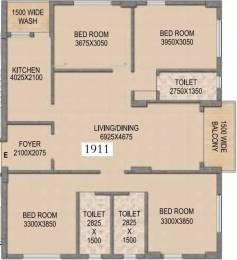 1911 sqft, 4 bhk Apartment in Mounthill The Rain Forest New Town, Kolkata at Rs. 70.0000 Lacs