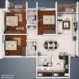 1570 sqft, 3 bhk Apartment in Northernsky City Kankanady, Mangalore at Rs. 20000