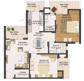 1315 sqft, 2 bhk Apartment in Builder Project Zirakpur punjab, Chandigarh at Rs. 39.9000 Lacs