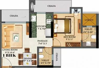 650 sqft, 1 bhk Apartment in Sethia Green View Goregaon West, Mumbai at Rs. 95.0000 Lacs