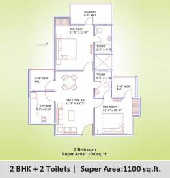 1865 sqft, 3 bhk Apartment in Supertech Eco Village 3 Sector 16B Noida Extension, Greater Noida at Rs. 52.7609 Lacs