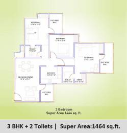 1464 sqft, 3 bhk Apartment in Supertech Eco Village 1 Sector 1 Noida Extension, Greater Noida at Rs. 44.9302 Lacs