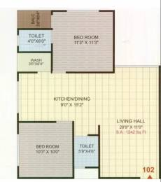 1242 sqft, 2 bhk Apartment in Narayan Coral Heights Palanpur, Surat at Rs. 34.7500 Lacs