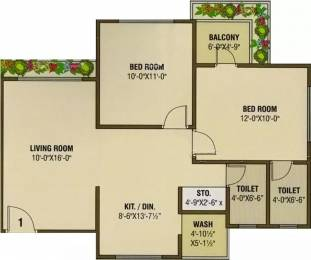 1084 sqft, 2 bhk Apartment in Vaishnodevi Heights Jahangirpura, Surat at Rs. 29.0000 Lacs