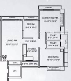1596 sqft, 3 bhk Apartment in Jangid Ambrosia And Aster Mira Road East, Mumbai at Rs. 1.3000 Cr