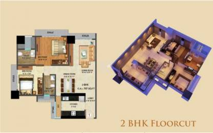 1283 sqft, 2 bhk Apartment in Builder Project Malad West, Mumbai at Rs. 2.2000 Cr