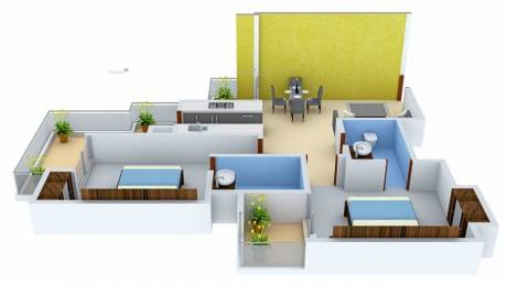 1150 sqft, 2 bhk Apartment in Ace City Sector 1 Noida Extension, Greater Noida at Rs. 10000