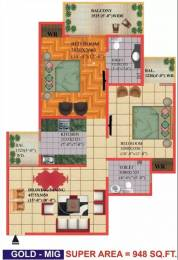 948 sqft, 2 bhk Apartment in Himalaya Pride Techzone 4, Greater Noida at Rs. 30.5000 Lacs