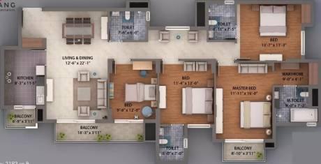 2192 sqft, 4 bhk Apartment in Umang Winter Hills Shanti Park Dwarka, Delhi at Rs. 35000