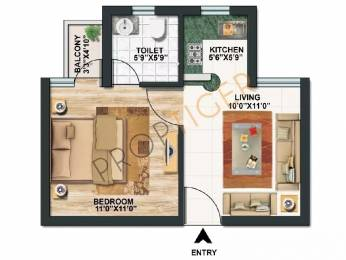 450 sqft, 1 bhk Apartment in Paras Tierea Sector 137, Noida at Rs. 22.0000 Lacs