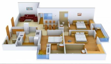 1675 sqft, 3 bhk Apartment in Logix Blossom County Sector 137, Noida at Rs. 74.0000 Lacs