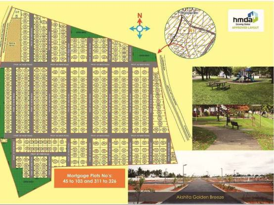2403 sqft, Plot in Builder akshita golden Breeze Tukkuguda, Hyderabad at Rs. 20.8260 Lacs