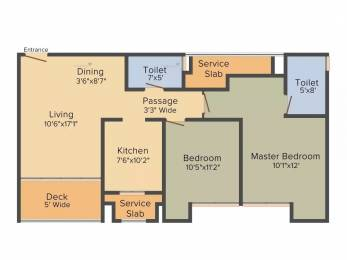 1135 sqft, 2 bhk Apartment in Rustomjee Urbania Azziano Thane West, Mumbai at Rs. 25000