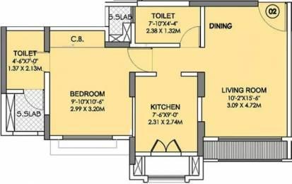 481 sqft, 1 bhk Apartment in Rustomjee Urbania Atelier Thane West, Mumbai at Rs. 80.0000 Lacs