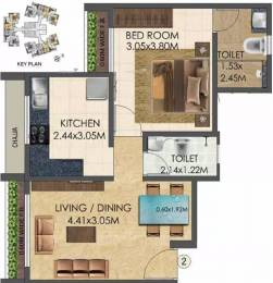 585 sqft, 1 bhk Apartment in Wadhwa Elite Thane West, Mumbai at Rs. 86.0000 Lacs