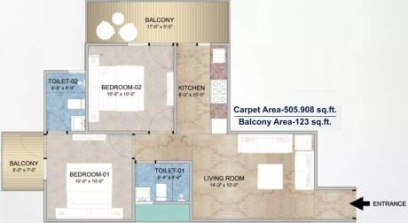 656 sqft, 2 bhk Apartment in Adore Happy Homes Grand Sector 85, Faridabad at Rs. 21.0000 Lacs